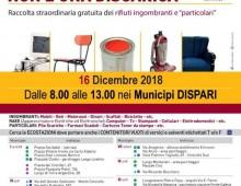 16 dicembre: raccolta gratuita dei rifiuti ingombranti