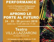 Teatro Villa Lazzaroni: I Centri di Formazione e le Scuole d'Arte incontrano il territorio