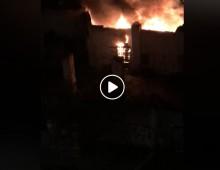 In fiamme una baracca in via della Stazione Tuscolana