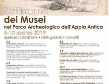 Parco dell' Appia Antica: aperture straordinarie per la settimana gratuita al museo