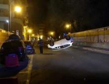 San Giovanni : auto si capovolge e vola per alcuni metri