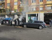 Appio Latino: il piromane dei cassonetti colpisce ancora