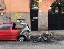 Via Tabarrini: bruciati nella notte auto e scooter