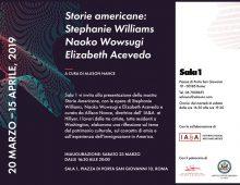 Sabato alla Sala 1: Stephanie Williams, Naoko Wowsugi, Elizabeth Acevedo