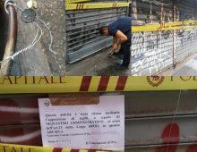 Mercato via Orvieto: apposti sigilli a 8 banchi e licenza revocata