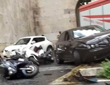 Incidente stradale a Porta San Sebastiano, grave il conducente dell' auto