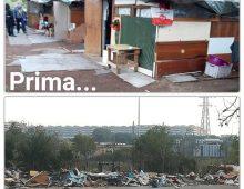 Via Tuscolana: smantellate di nuovo le baracche abusive