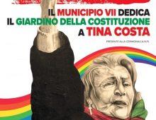 Al Municipio VII targa dedicata a Tina Costa