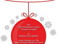 """""""San Giovanni in canto"""" per i pazienti dell'Ospedale"""