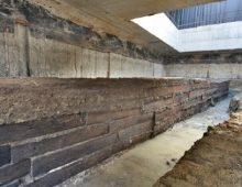 Via Sannio: ritrovate 24 tavole di legno di quercia di 2000 anni fa