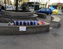 """Pasta per i bisognosi, atto di solidarietà sotto l' """"Alberone"""""""