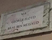 Raid antirazzista: Via Amba Aradam diventa via George Floyd.