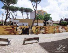 I murales di Diavù su 130 scuole del municipio VII