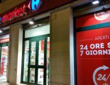 Rapina al Carrefour di via Cesare Baronio