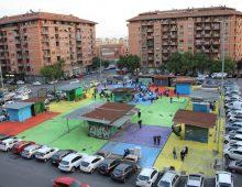 Quadraro: una piazza colorata contro il degrado