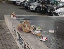 I rifiuti di McDonalds in via Appia Nuova