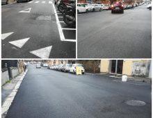 Appio Latino: rifatto manto stradale via Cibrario, via Capponi e piazza Papi
