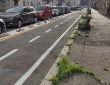 Pista ciclabile anche in via Matera: più che dimezzati i parcheggi