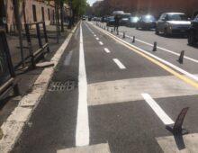 Nuovo segmento di pista ciclabile in via Taranto