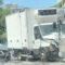 Via Fortifiocca: brutto incidente tra autobus, camion e auto