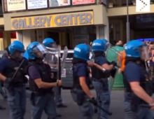 Via Appia: il video degli scontri tra polizia e manifestanti No Green Pass